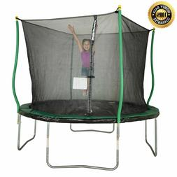 Trampoline With Safety Net Enclosure Light Outdoor Toys Back