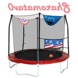 trampolines 12 foot jump n dunk red