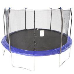 trampolines 15 round trampoline and enclosure blue