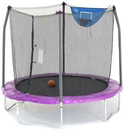 Trampolines 8-Foot Jump N' Dunk Trampoline with Enclosure