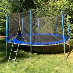 ALEKO TRP14 14 Foot Trampoline with Safety Net and Ladder, B