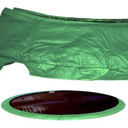 "JumpKing 10"" Wide Trampoline Frame Pad - Green 14 Foot"